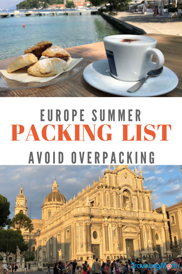 My summer packing list for Europe depends on whether I am headed north or south, to mountains or cafes, or both. #PackingList #EuropePackingList #PackingListEurope #Europe