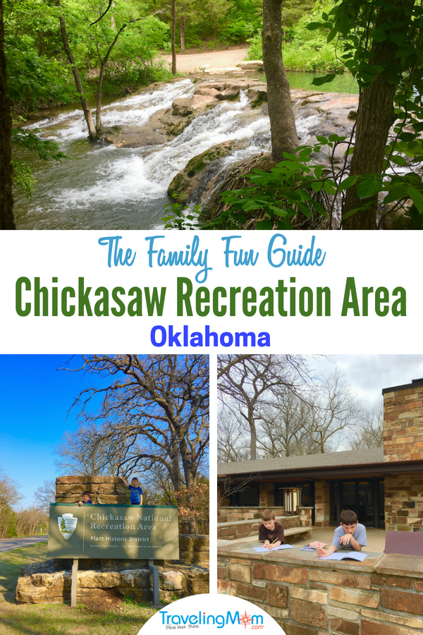 Head to the Arbuckle Mountains to explore the Chickasaw National Recreation Area in Southern Oklahoma. Find lots of family fun with swimming, hiking and camping. Got your guide for this National Park Service site. #NPS #Oklahoma #NationalPark #FamilyTravel