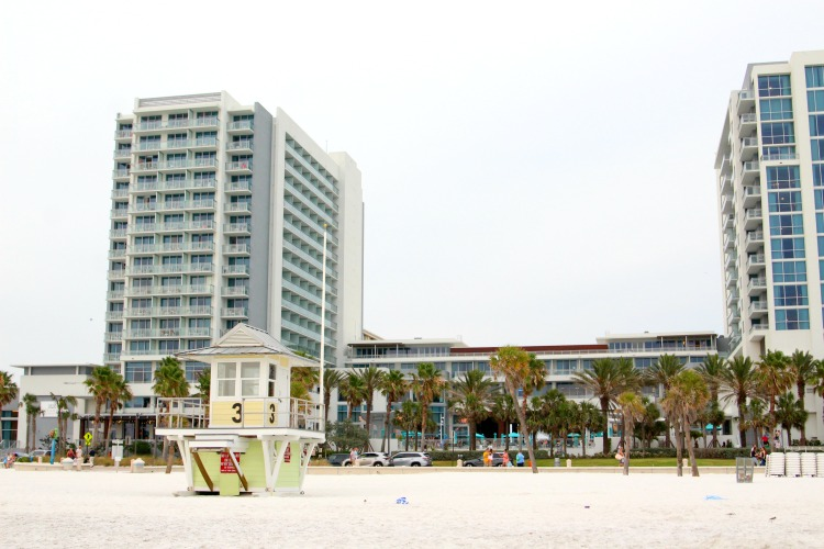 The Wyndham Grand Clearwater Beach is a family friendly hotel with a great location