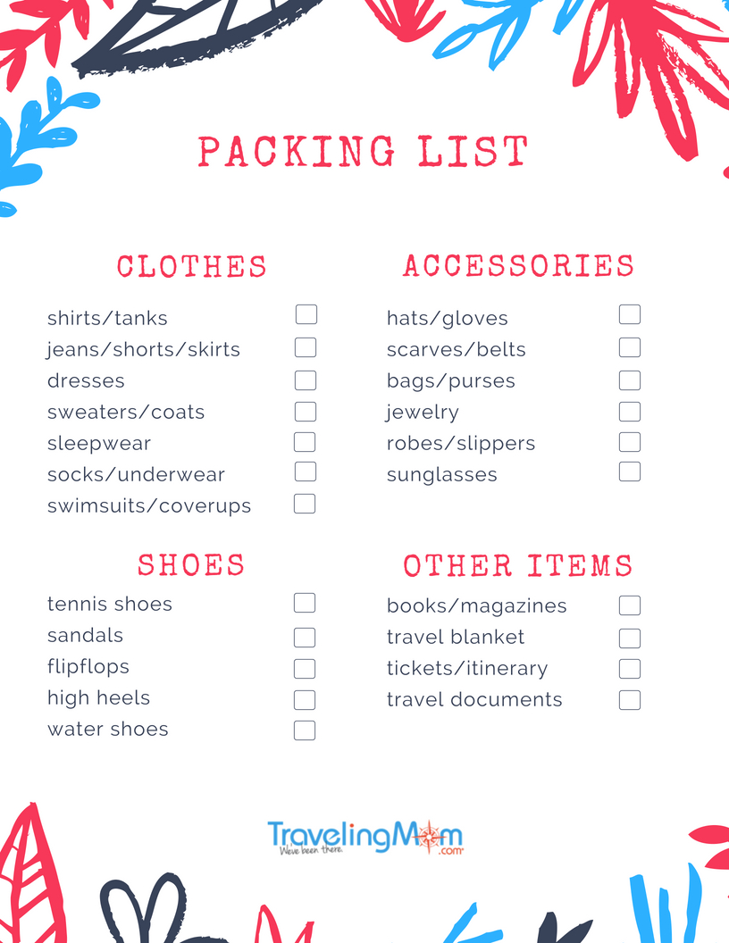 photograph relating to Ski Trip Packing List Printable named Greatest Packing Checklist For Household Vacationers TravelingMom