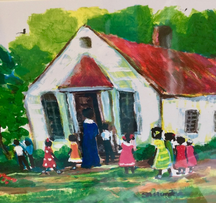 St. Simons Island honors Gullah Geechee heritage with the cultural center Harrington School, circa 1925.