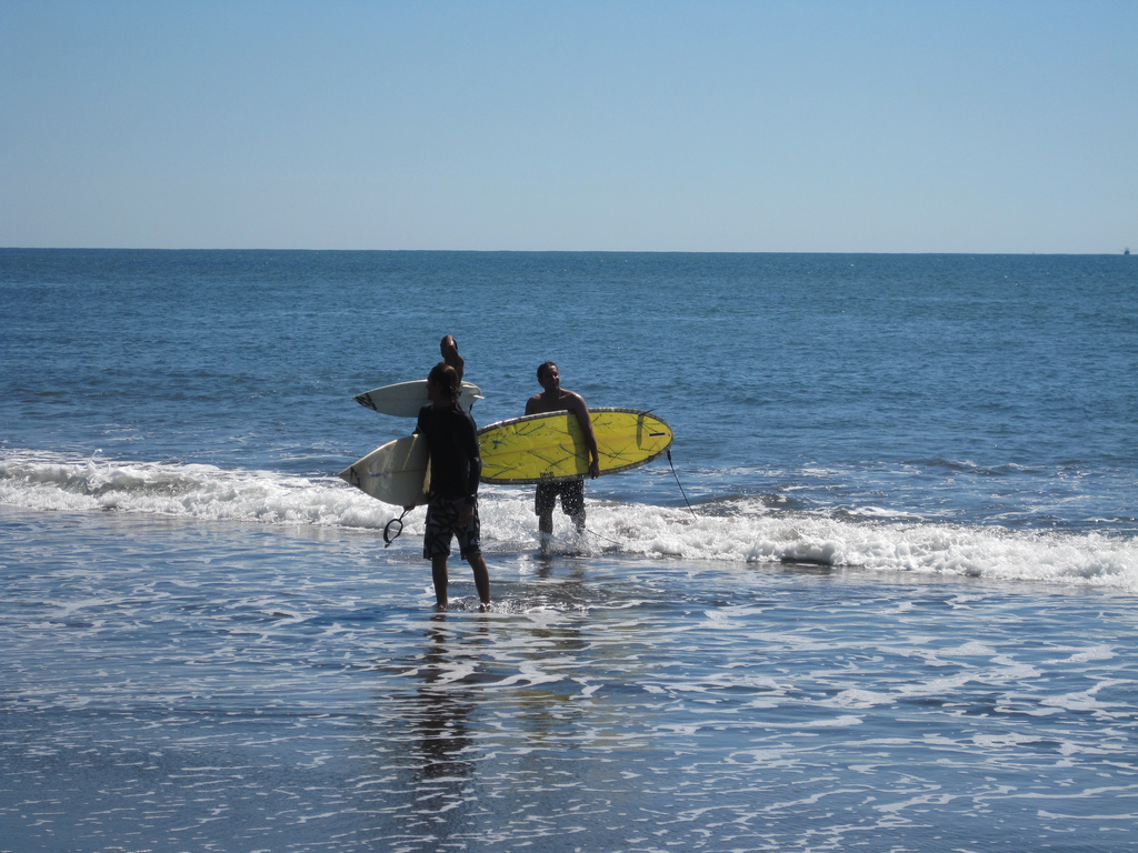 Surfing Lessons at El Paredon Beach are some of the things to do in Guatemala with teens.