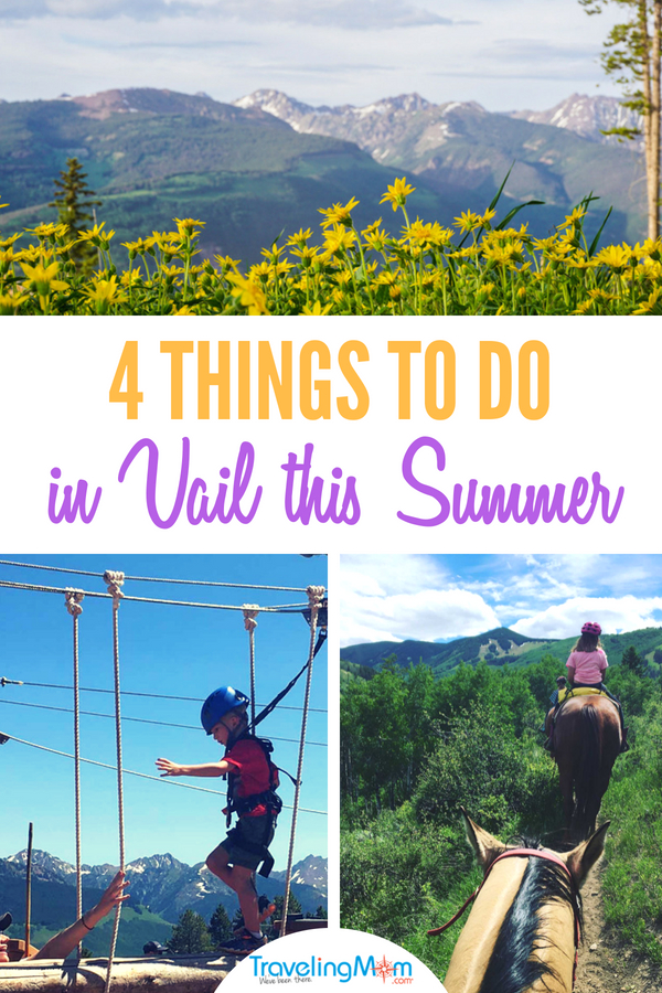 Thinking of taking a Vail summer vacation? Find out our top 4 things to do with kids in Vail this summer from a Vail local! #Vail #Colorado #VisitColorado #TMOM #familyvacation