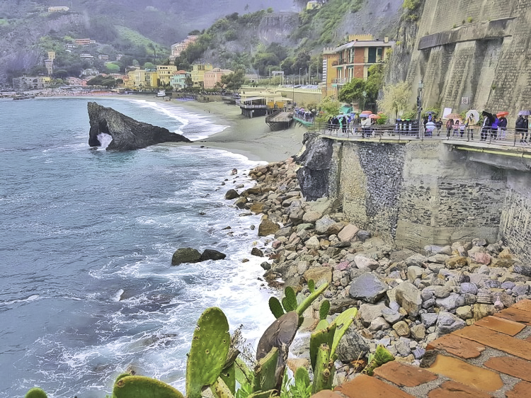Cinque Terre 3 day itinerary. Views of Monterosso from a walking path.
