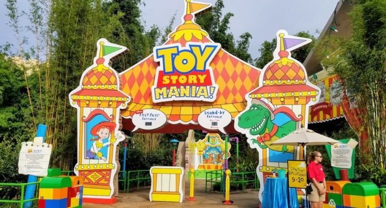 Toy Story Mania got a new facelift and the entrance is now in Toy Story Land.