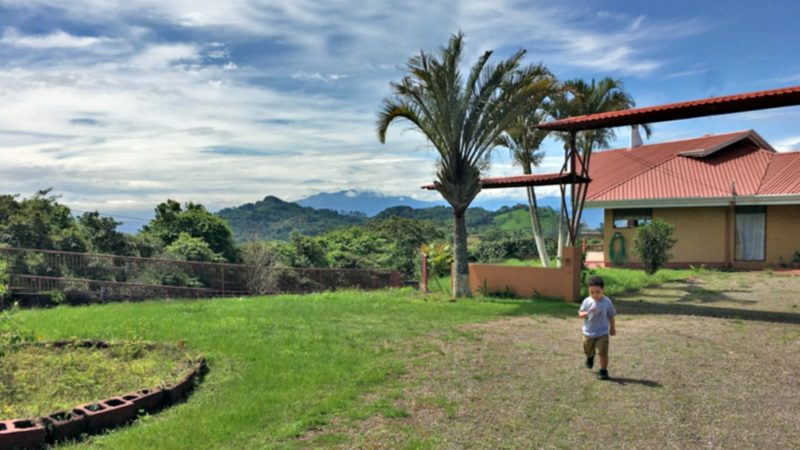 This hilltop Airbnb rental in Atenas, Costa Rica offers sweeping views of the country.