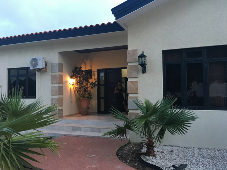 This large single family home is available as an Airbnb rental in Oranjestad Aruba.