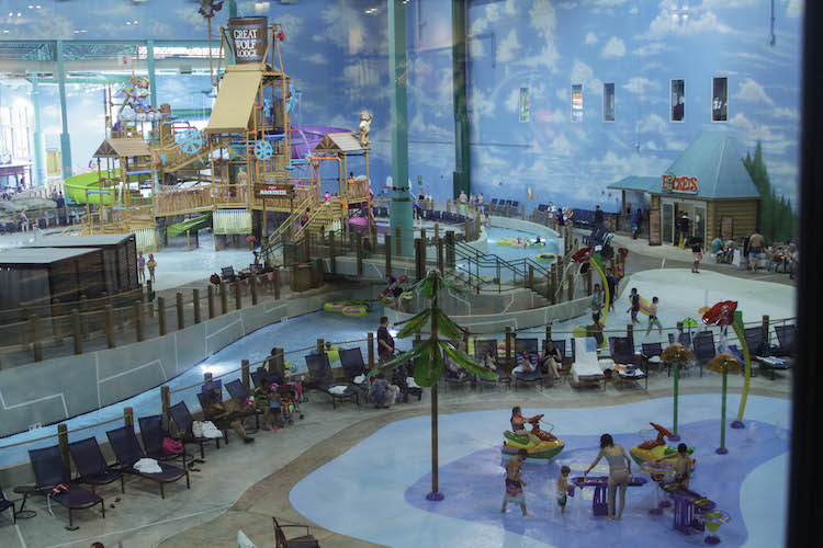 There's plenty for little kids at the Gurnee Great Wolf Lodge