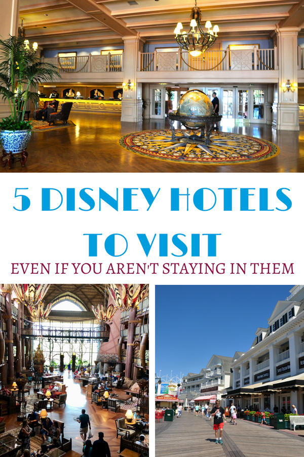 Check out these 5 Disney hotels to visit even if you aren't staying at them.