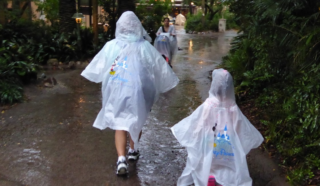 Disney World Tips: Don't make the mistake of forgetting to pack rain ponchos at Disney World.
