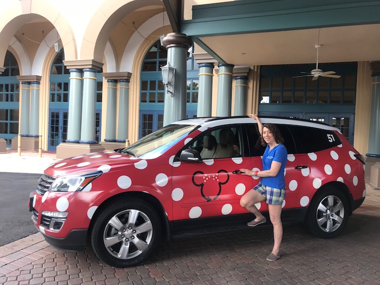 Disney Future Plans include just-released changes too likethe polka dot cars and mini-van shuttles.