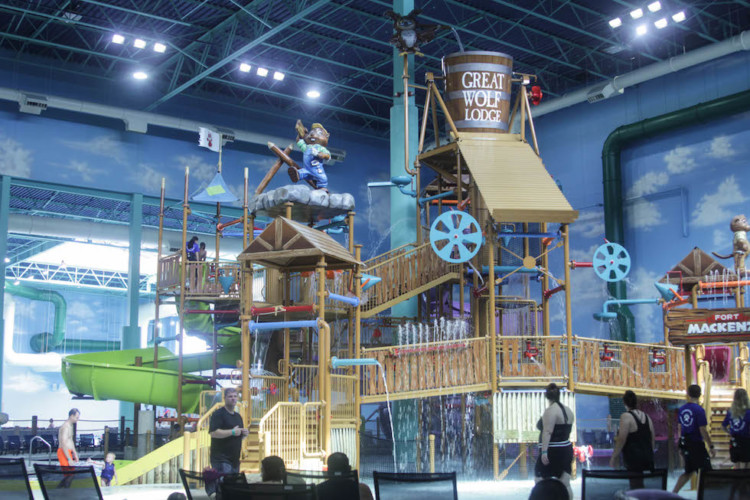 Waterpark activities at Gurnee Great Wolf Lodge are for all ages