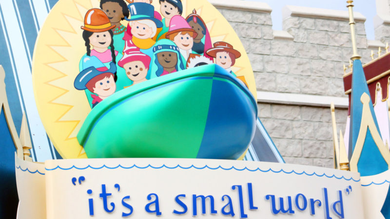One of the best rides for toddlers is definitely It's A Small World.