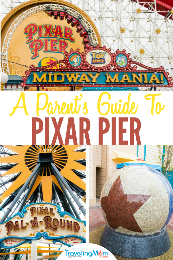 A parent and family guide to the all new Pixar Pier at Disneyland Resort, in Disney California Adventure. #PixarPier #Disneyland #Disney #California #ThemeParks #TravelingMom