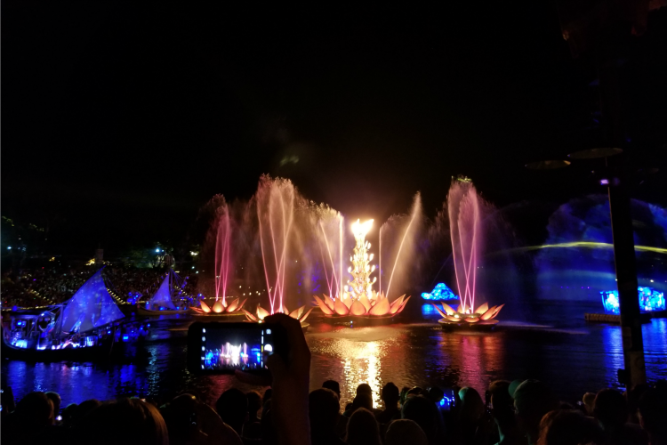 You chance having your view obstructed if you sit near the back at Rivers Of Light
