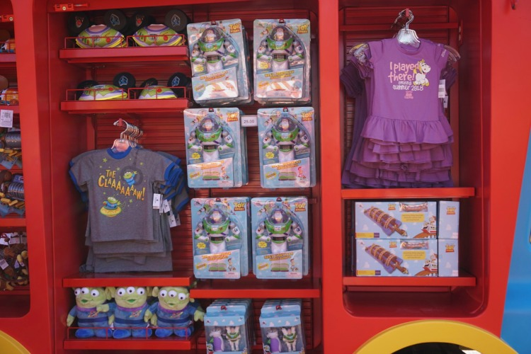 There's a wide range of merchandise available while shopping in Toy Story Land. Photo by Multidimensional TravelingMom, Kristi Mehes.