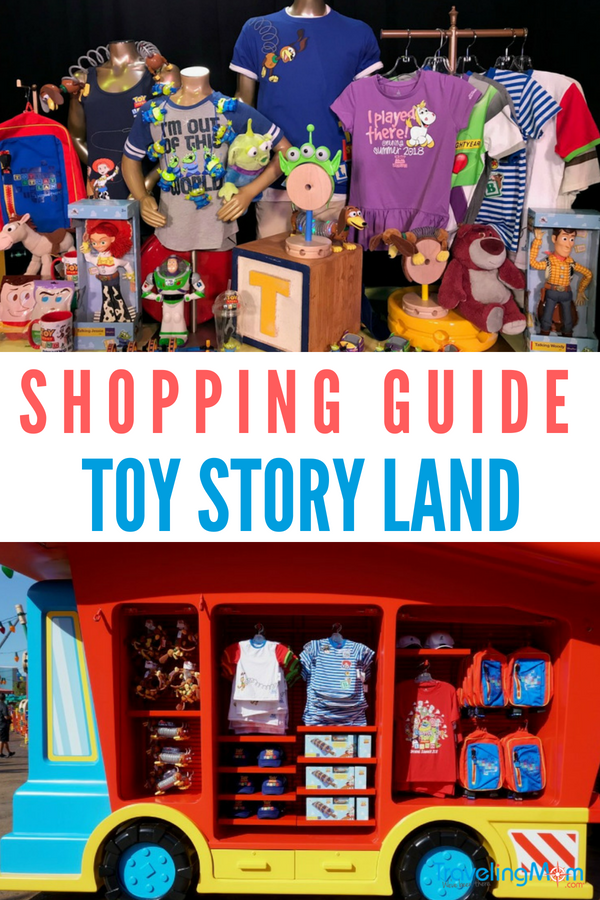 Planning a vacation to Disney World and Toy Story Land in Hollywood Studios? From t-shirts to slinky dogs, here's a complete guide for shopping in Toy Story Land, including the top souvenirs, where to buy them and how to score a deal! Photos by Multidimensional TravelingMom, Kristi Mehes. #sponsored #DisneyWorld #ToyStoryLand #FamilyTravel #VisitOrlando #VisitFlorida