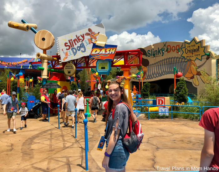 Toy Story Land tips for beating the lines include getting to the Slinky Dog Dash queue ASAP by heading to Hollywood Studios for rope drop.