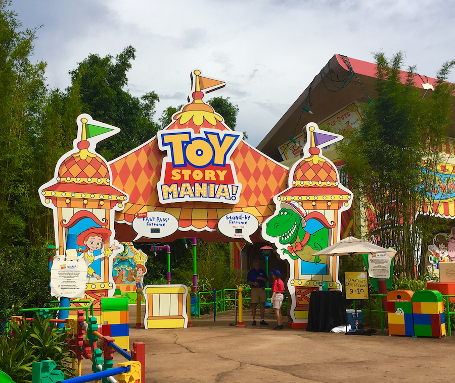Toy Story Mania in Hollywood Studio's Toy Story Land. Hollywood Studios for preschoolers.