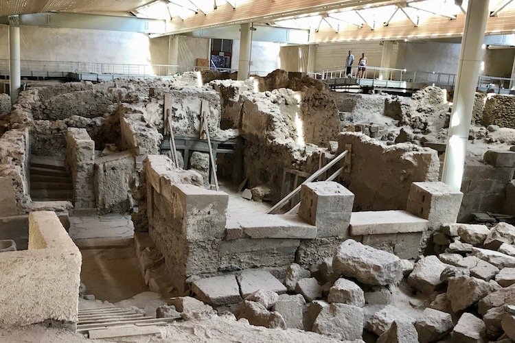 Akrotiri ancient Greek historic site, a stop on Celestyal Cruises