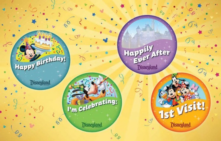 There's plenty to celebrate on Disney vacation! Pick up any of these free buttons from Guest Services at any park.
