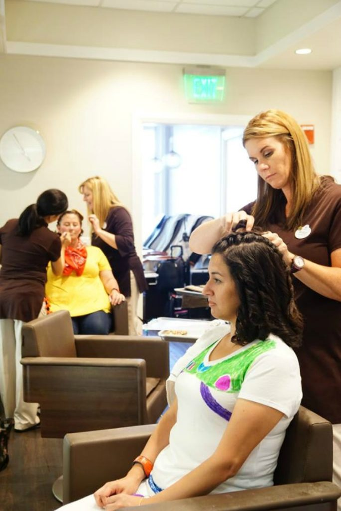 Enjoy a day at the salon with friends when you go for your character couture makeover
