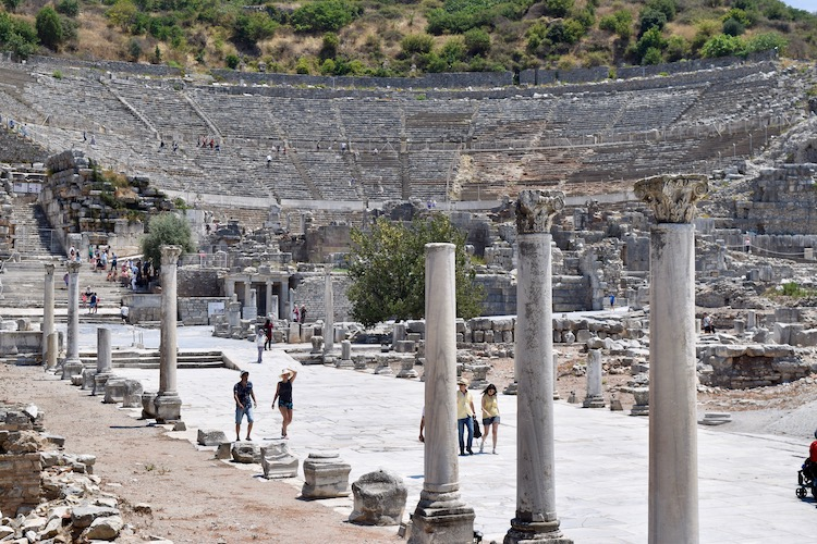 Great Theatre in Ephesus, one of ancient greek and roman ruins to explore in Turkey aboard Celestyal Cruises