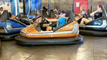 Bumper cars at Kennywood Amusement Park in Pittsburgh PA.
