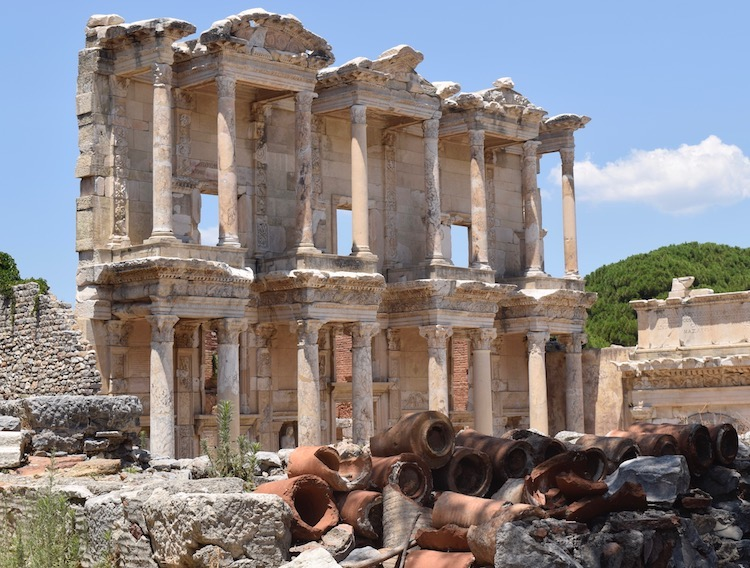Library of Celsus in Ephesus, one of the ancient greek ruins to explore in Turkey on Celestyal Cruises