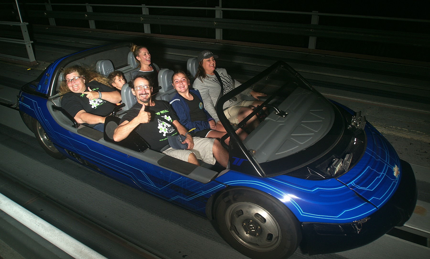 Disney World ride pictures on Test Track.