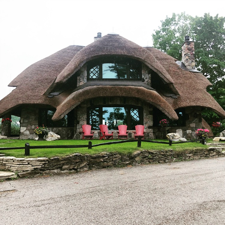 One of the cool things to do in Northern Michigan is to tour the Mushroom Houses in Charlevoix.