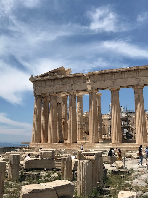 The Parthenon on the Acropolis in Athens, a Greek historic site on a Celestyal Cruises excursion