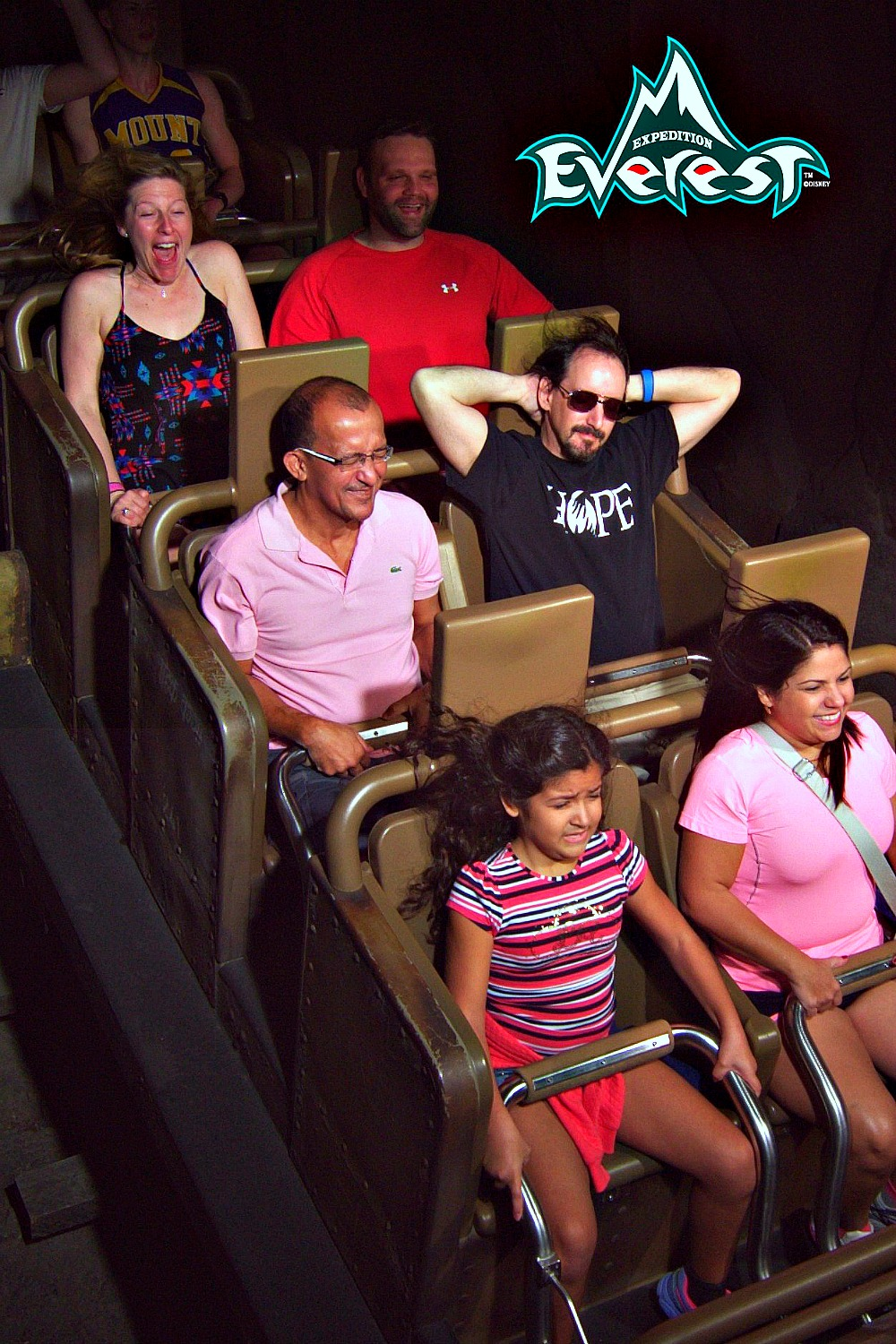 Disney World ride picture on Expedition Everest.
