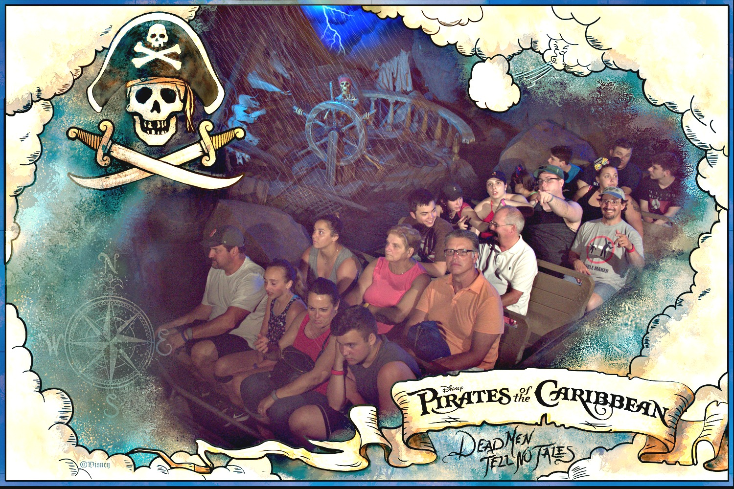 Disney World ride pictures on Pirates of the Caribbean