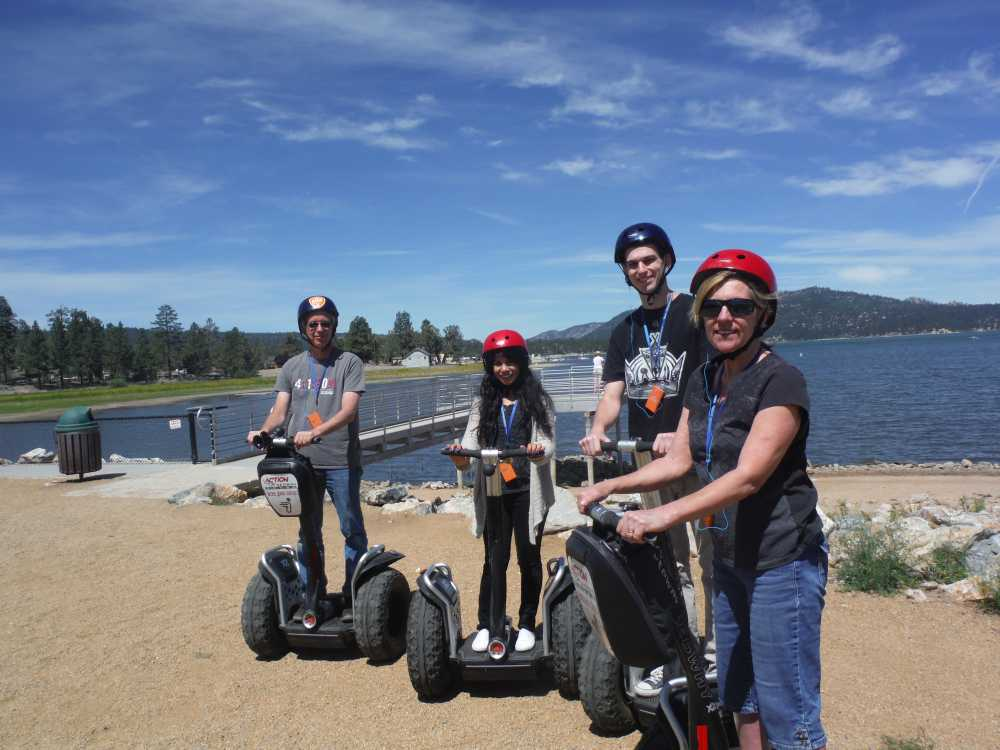 Riding a segway is among the 7 things to do in Big Bear in summer