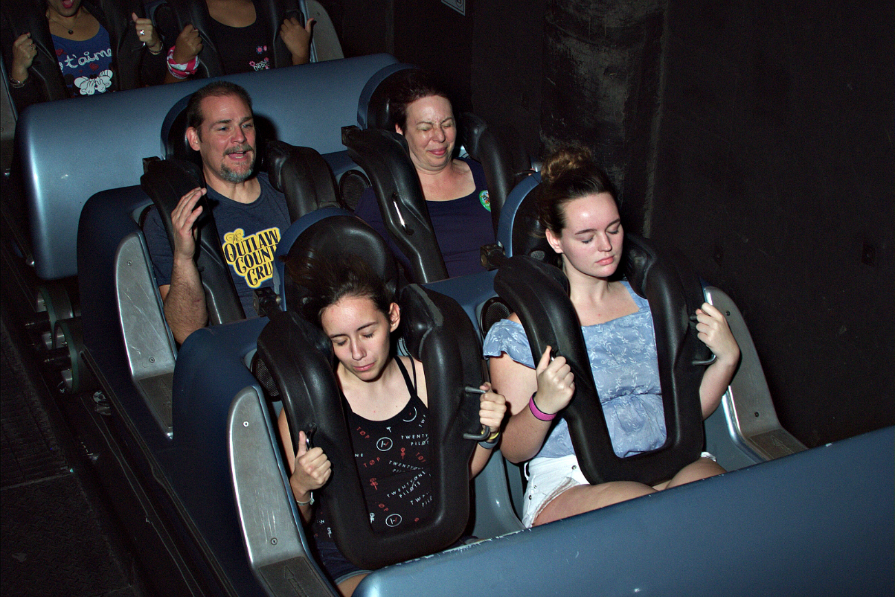 Disney World ride pictures on the Rock and Roller Coaster.