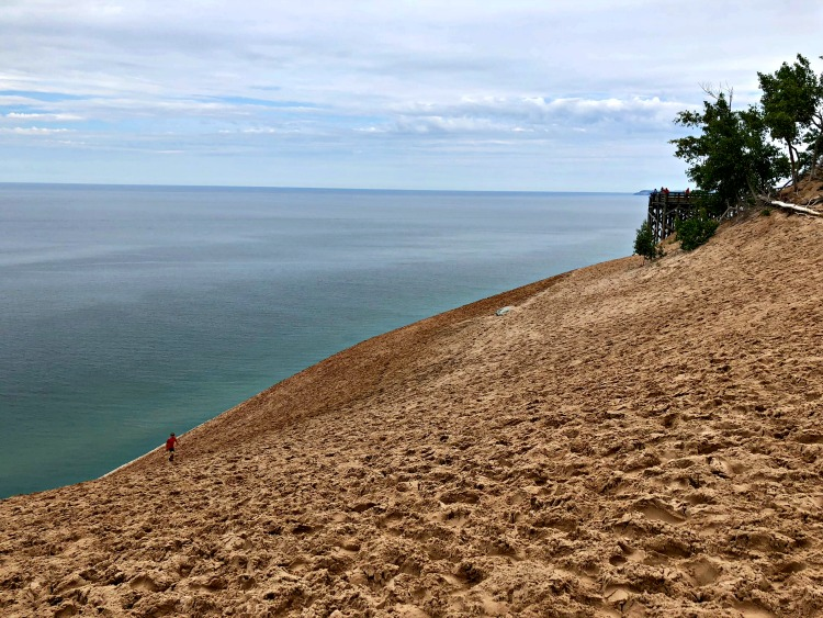 One of the cool things to do in Northern Michigan is to visit Sleeping Bear Dunes near Traverse City.