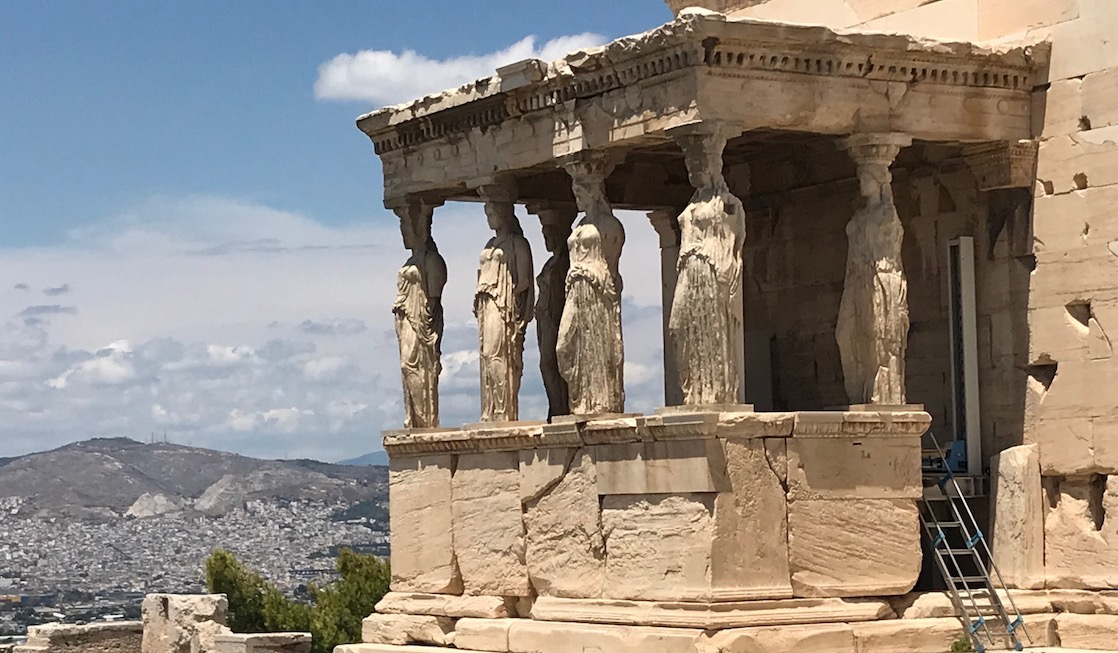 Temple of Athena on the Acropolis in Athens a greek historical site on a Celestyal Cruises excursion