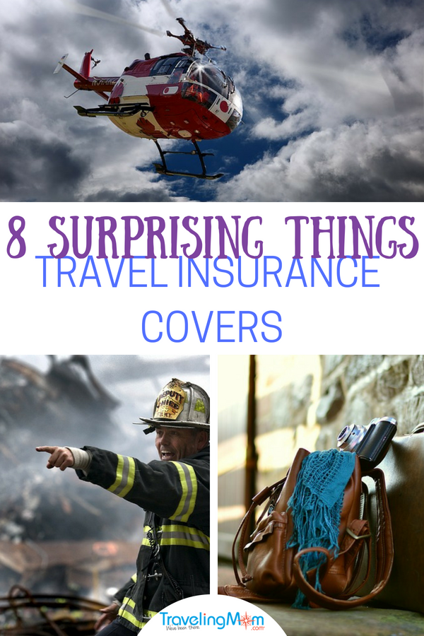 Travel insurance covers SO much more than trip cancellation. Do you know about these 8 things it covers? #travel #tmom