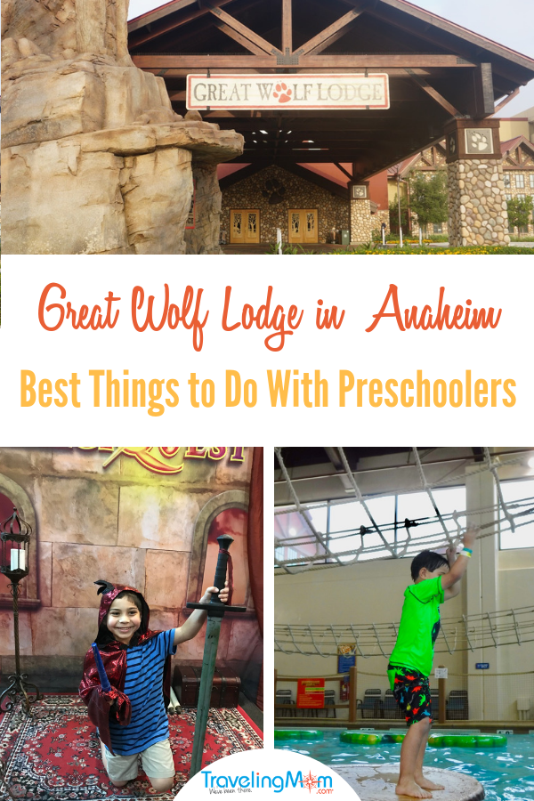 Planning a family vacation to Great Wolf Lodge? There are several things to do with preschoolers at Great Wolf Lodge Anaheim, including having fun in the indoor waterpark and participating in the MagiQuest. Photo by Multidimensional TravelingMom, Kristi Mehes.