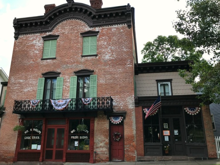 Must-Visit Places on the New York Path Through History Trail: W.M. Phelps General Store in Palmyra, NY.