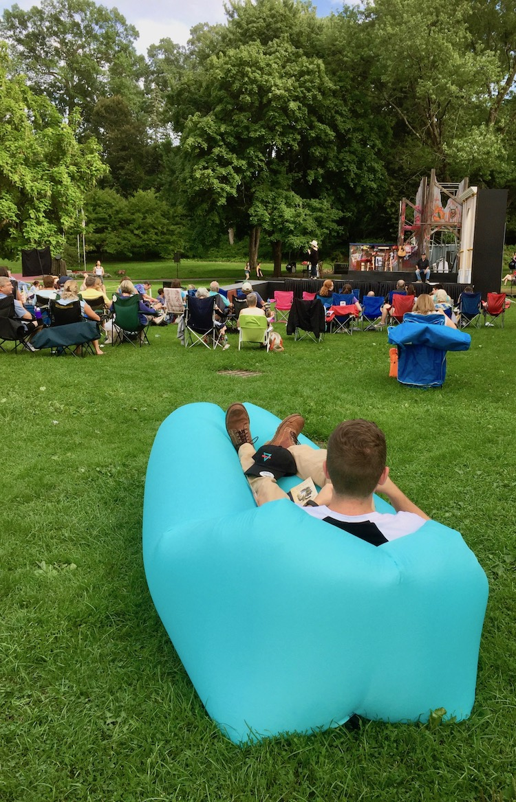 Saratoga Springs features Shakespeare in the park every summer.