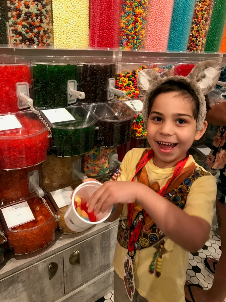 The Paw Pass includes several items, including a cup to fill candy in it. Photo by Multidimensional TravelingMom, Kristi Mehes.