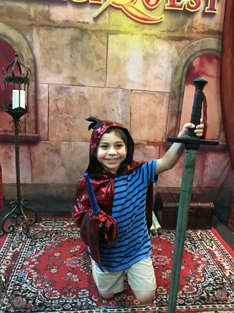 Kids can participate in MagiQuest! If they complete their quest, they can become knighted as a Master Magi! Photo by Multidimensional TravelingMom, Kristi Mehes.