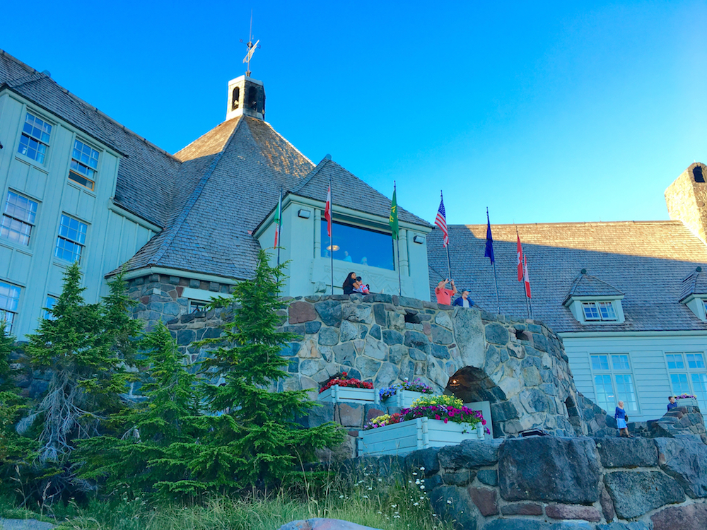 The Timberline Lodge in Mt Hood National Forest. West Coast national park trips for families