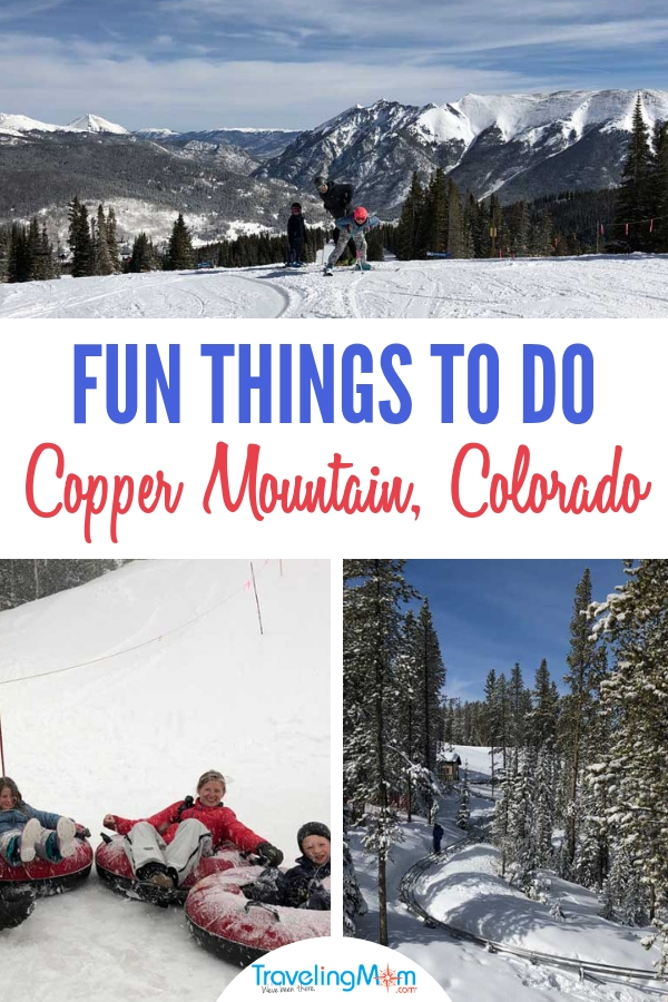 From music and activities at the base area to speeding down the mountain on skis, tubes or the new alpine coaster Copper Mountain is full of family fun. Find out our 6 favorite fun family activities you'll want to try at Copper Mountain Ski Resort in Colorado! #CopperMountain #Ski #ColoradoTravel #VisitColorado