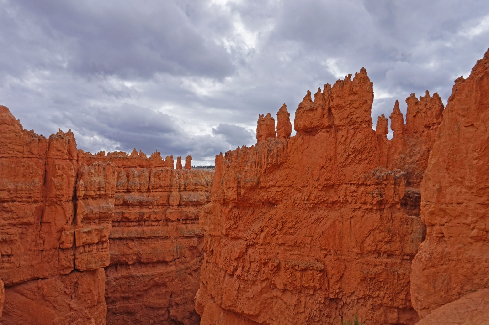 Planning a trip to Bryce Canyon. Amazing red rock formations against the sky.