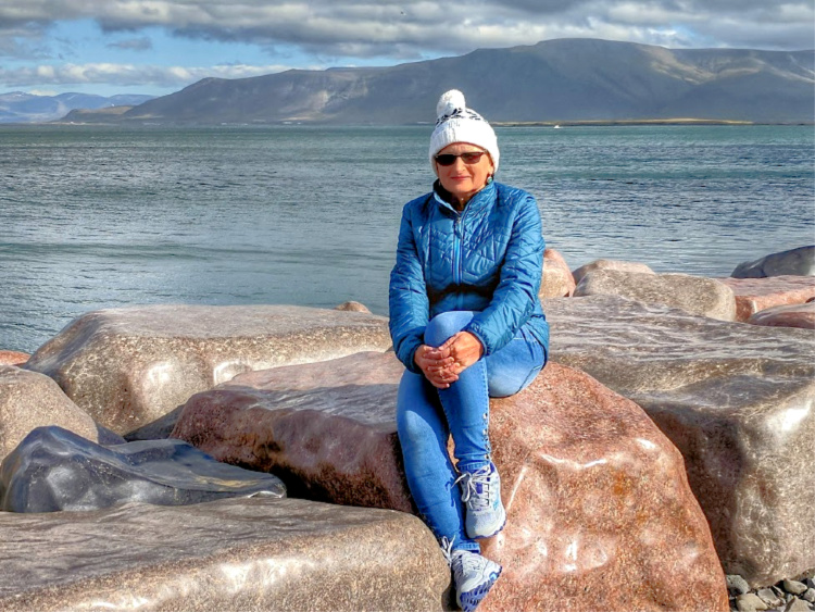 Planning Iceland road trip. Enjoying beautiful and peaceful seafront of Reykjavik.