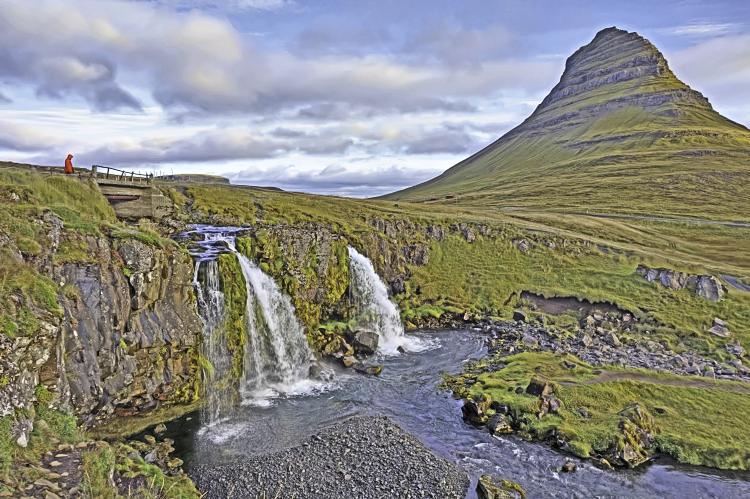 Planning Iceland road trip. Easy to reach, Kifkjufellsfoss waterfall delivers 4 waterfalls in one