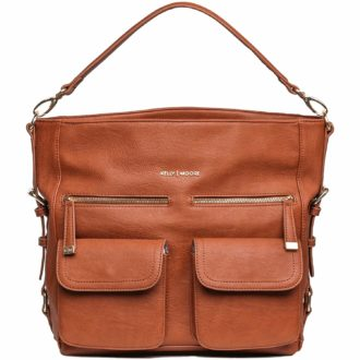 Smart travelers need a multi-purpose piece. Kelly Moore delivers with this stylish camera bag. | TravelingMom Best Travel Gifts for Women